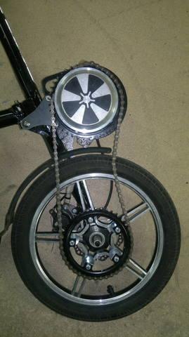 Электровелосипед с мотором от гироскутера на подтяжках