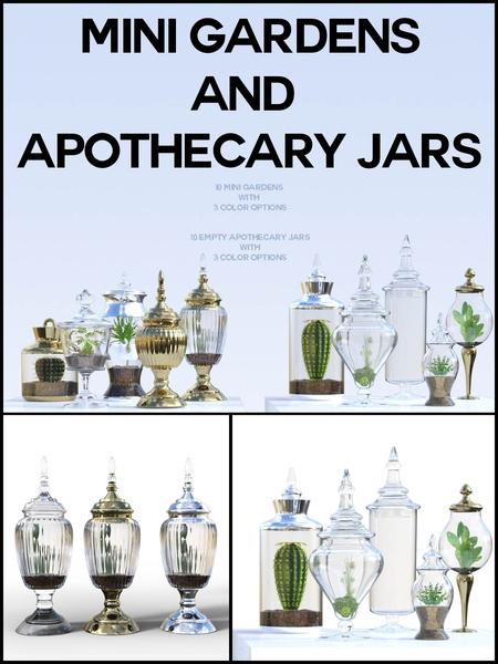 Mini Gardens and Apothecary Jars for Daz Studio