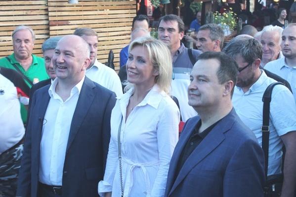 Мария Захарова, Сербия, Гуча, фестиваль трубачей