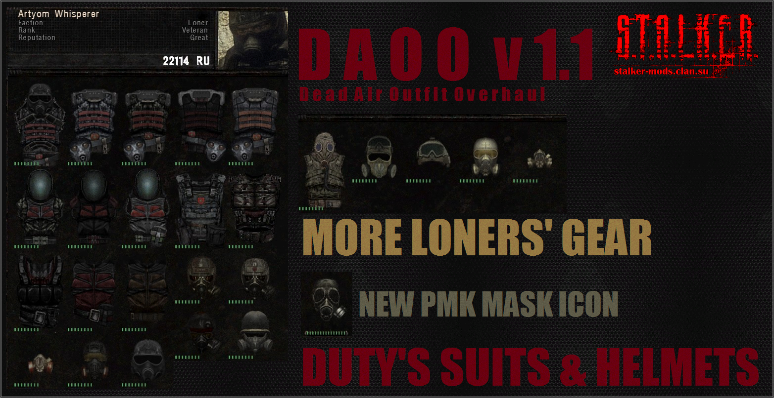 DEAD AIR OUTFIT OVERHAUL - DAOO