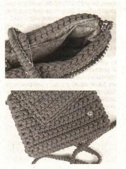 Вязаная сумка с цепочками