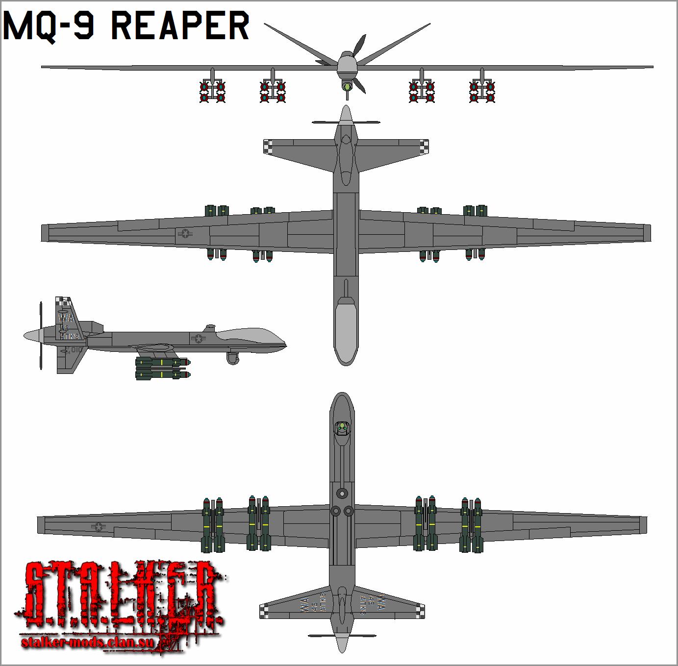 Модель БПЛА Altair Predator B