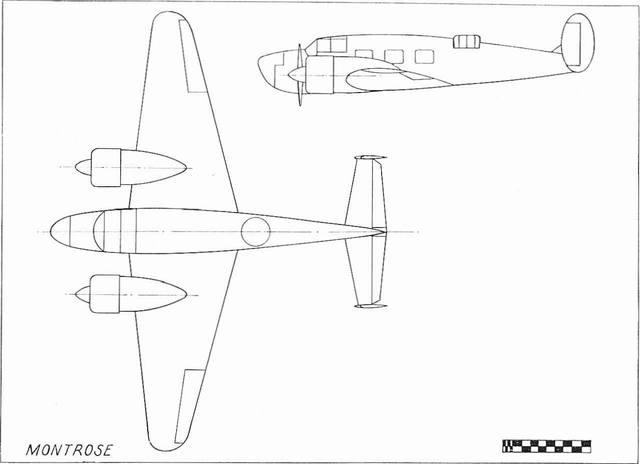 схемы версии Miles M.36 Montrose для подготовки штурманов, радистов, бомбардиров и стрелков