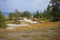 Местность возле большого пресного озера в Йеллоустоунском парке. Фото Морошкина В.В.