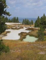 Горячие озёра возле Б. пресного озера в Йеллоустоунском парке. Фото Морошкина В.В.
