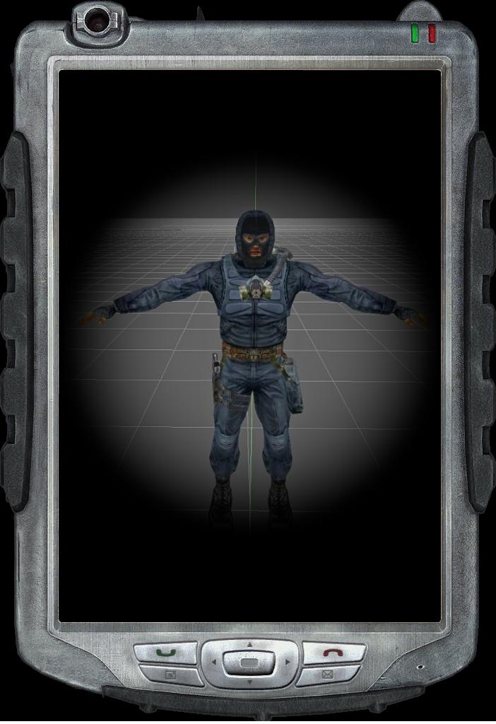 Модель сталкера -Охрана ученых