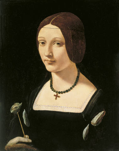 Giovanni-Antonio-Boltraffio-Portrait-of-a-Lady-as-St-Lucy