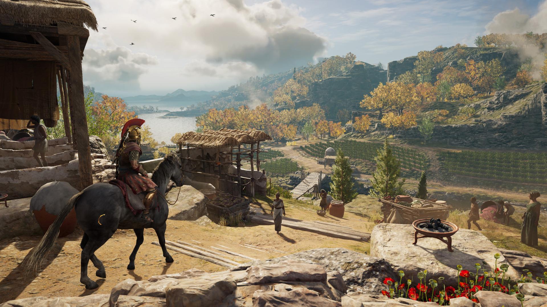 В Assassins's Creed Odyssey можно ухватиться за гигантский член Зевса