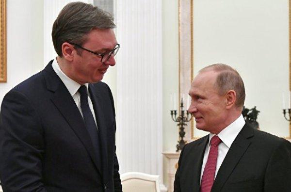 Путин, Вучич, Сербия, Москва