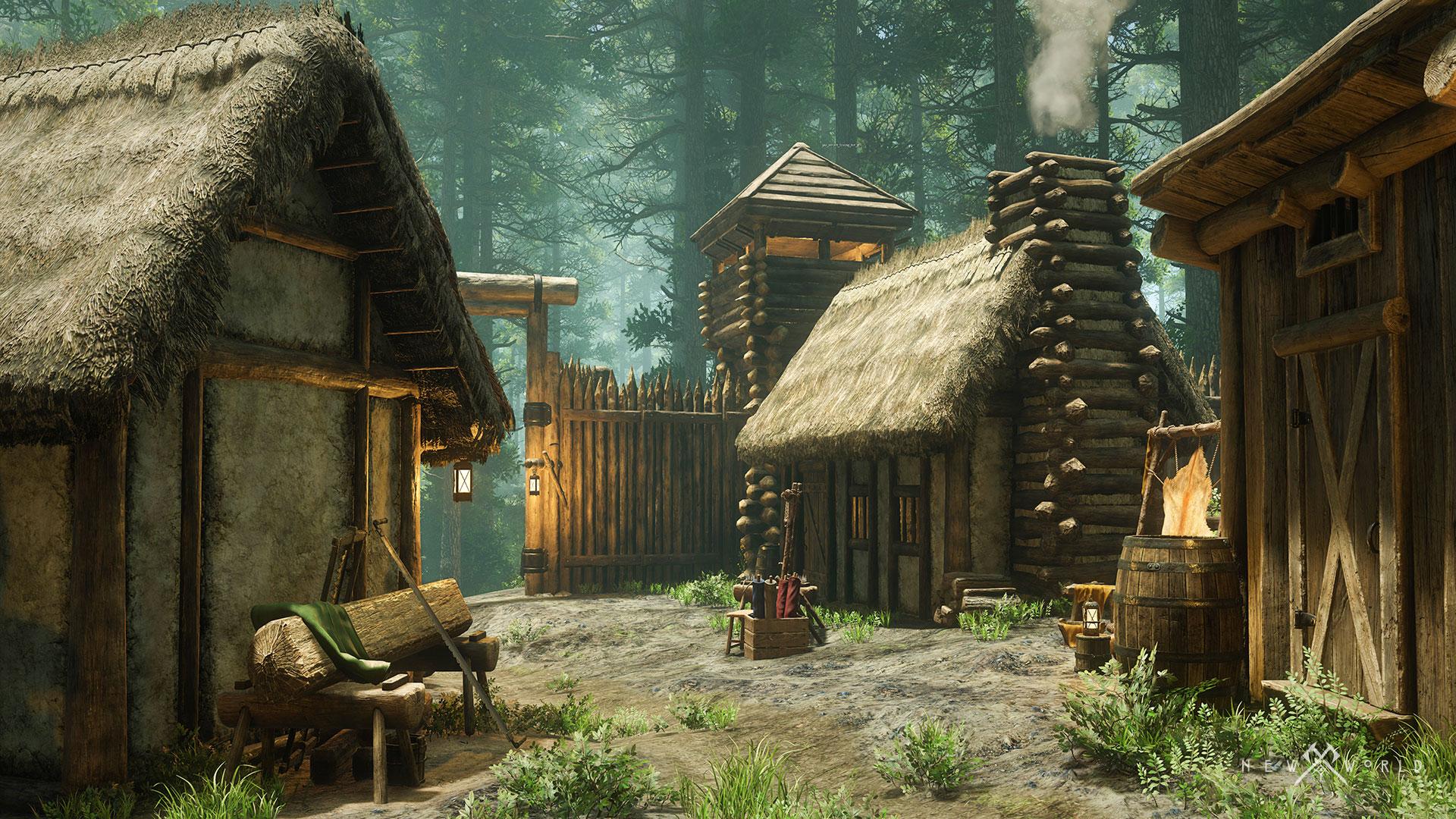 В сеть утекло 9 минут геймплея New World — крупной MMORPG с выживанием, крафтом, охотой и строительством