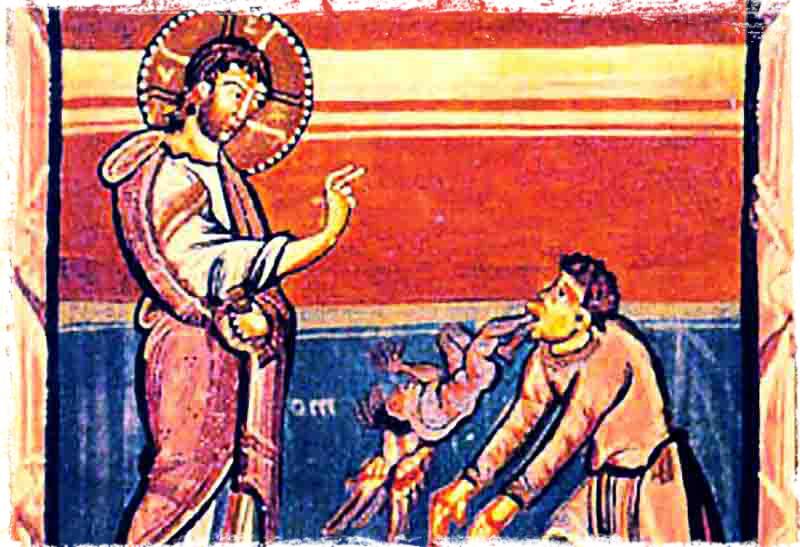 მუნჯი კაცისგან ეშმაკის განდევნა