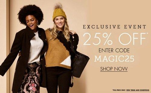 Mandco.com (M&Co) промокод. Скидка 25% на все товары за полную цену + бесплатная интернациональная доставка