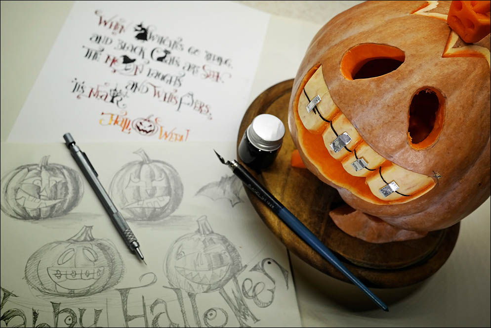 Halloween. Pumpkin handmade