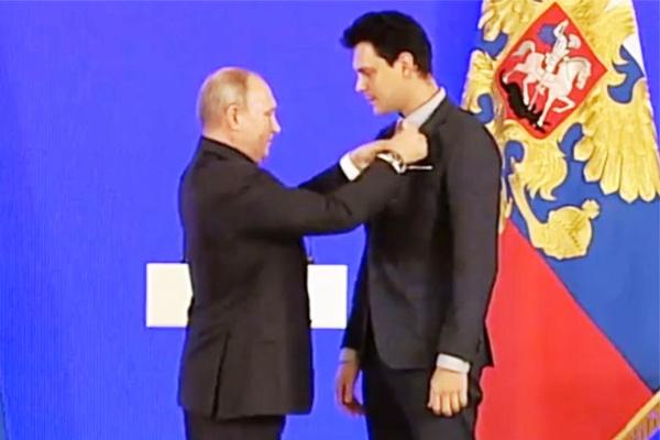 Сербия, Путин, Милош Бикович, Кремль, медаль Пушкина