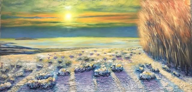 Зимний закат на озере Виннипег