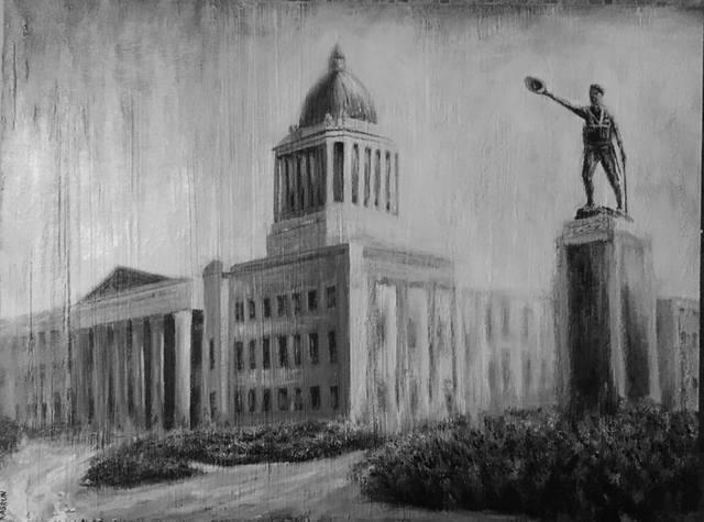 Старый Виннипег. Здание Парламента Манитобы и памятник воинам Первой Мировой Войны