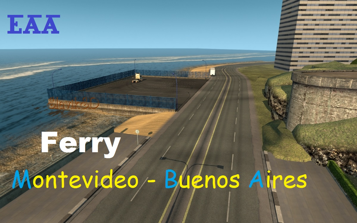 Ferry Montevideo - Buenos Aires on EAA map