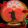 коллаж шар танго влюбленных