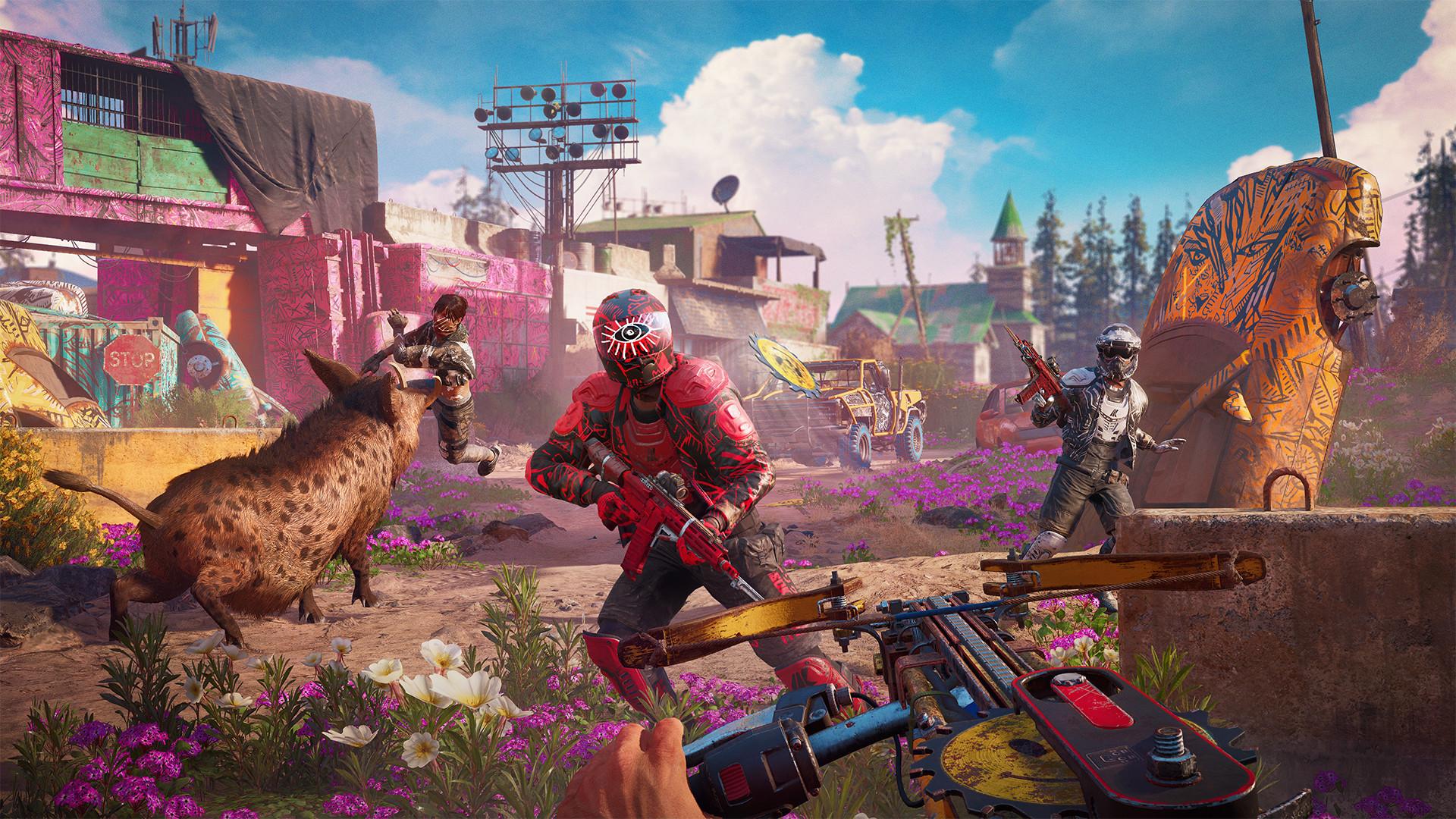 Шесть минут нового геймплея Far Cry New Dawn — стелс, езда на машине и пиломет