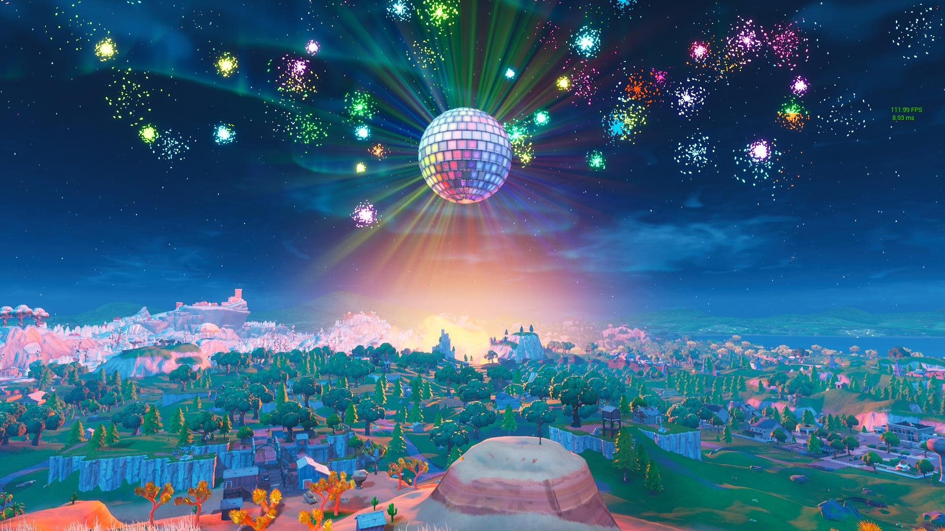 Каждый час в Fortnite взрываются праздничные фейерверки