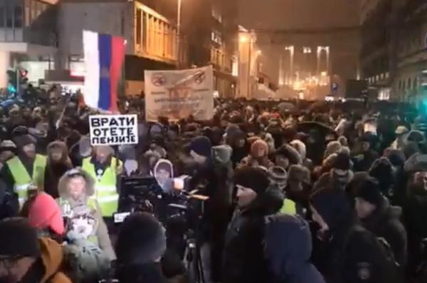 Сербия, Белград, протесты, демонстрация, Вучич