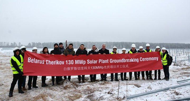 В зоне отселения под Чериковым строят солнечную электростанцию
