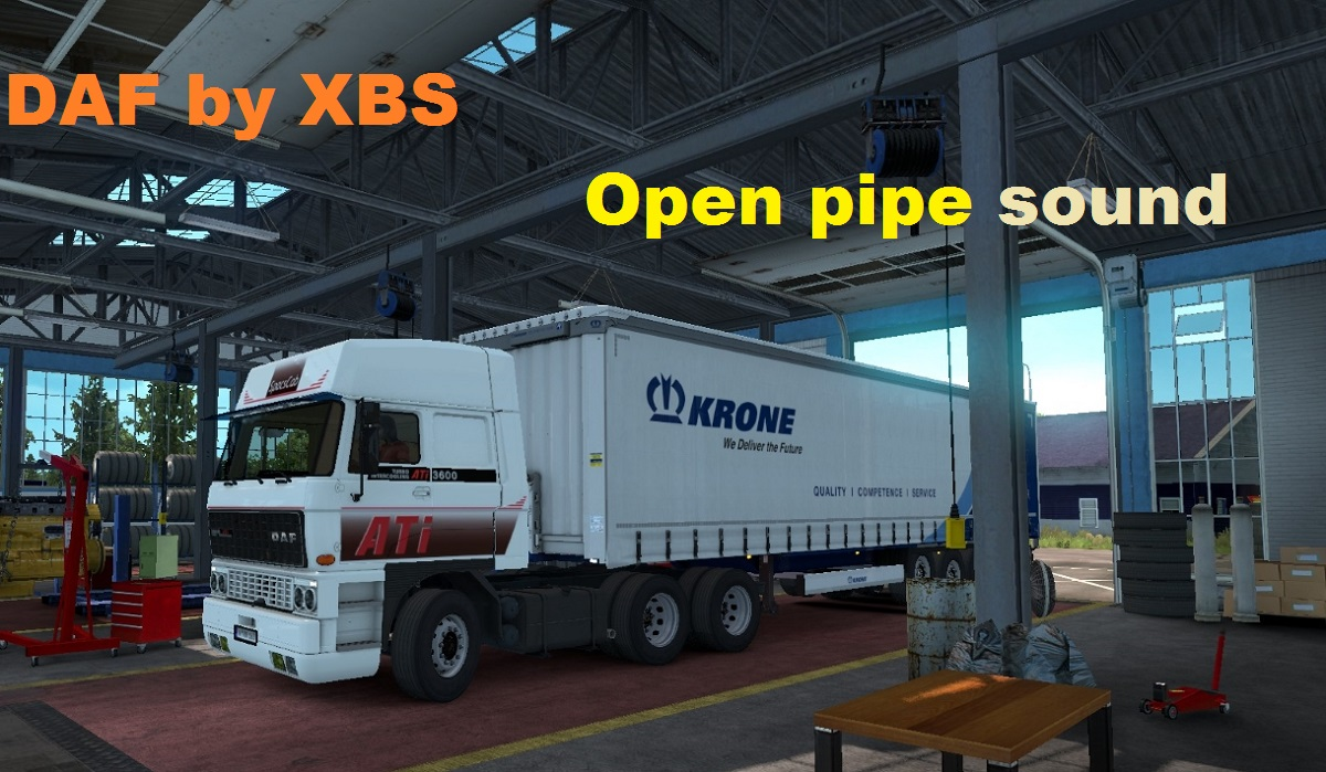 Daf F241  Open Pipe sound
