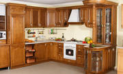 Кухонные гарнитуры из массива ценных пород древесины
