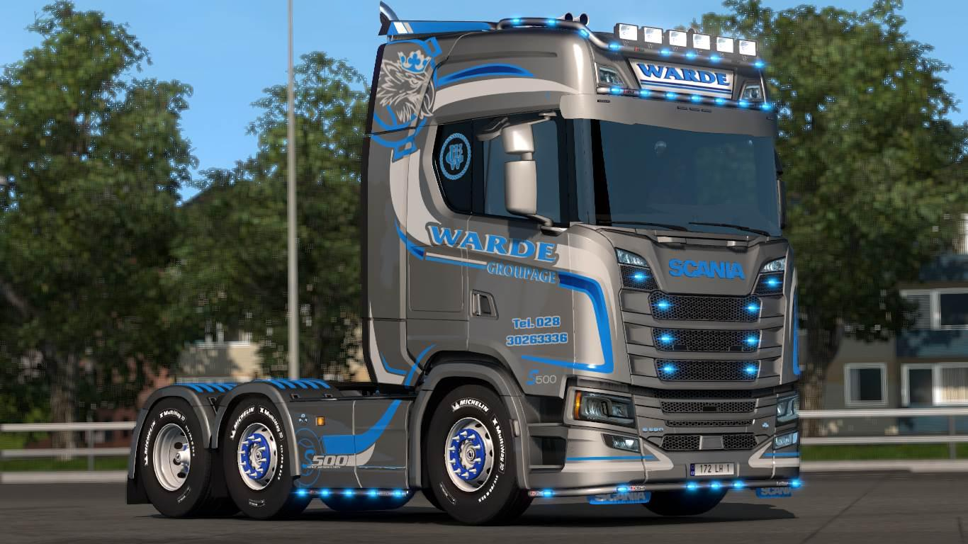 Warde Groupage Scania NG S + Trailer Skin 1.33