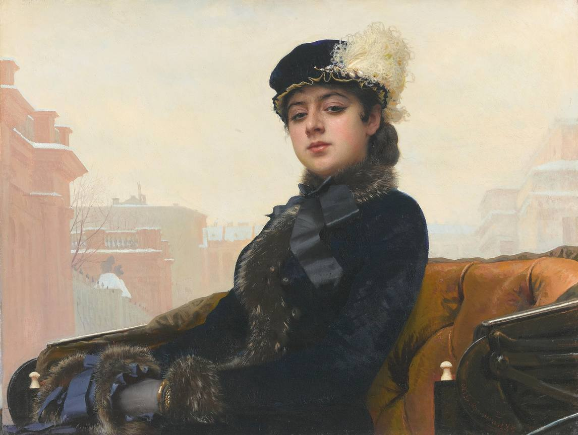 Kramskoy Portrait of a Woman