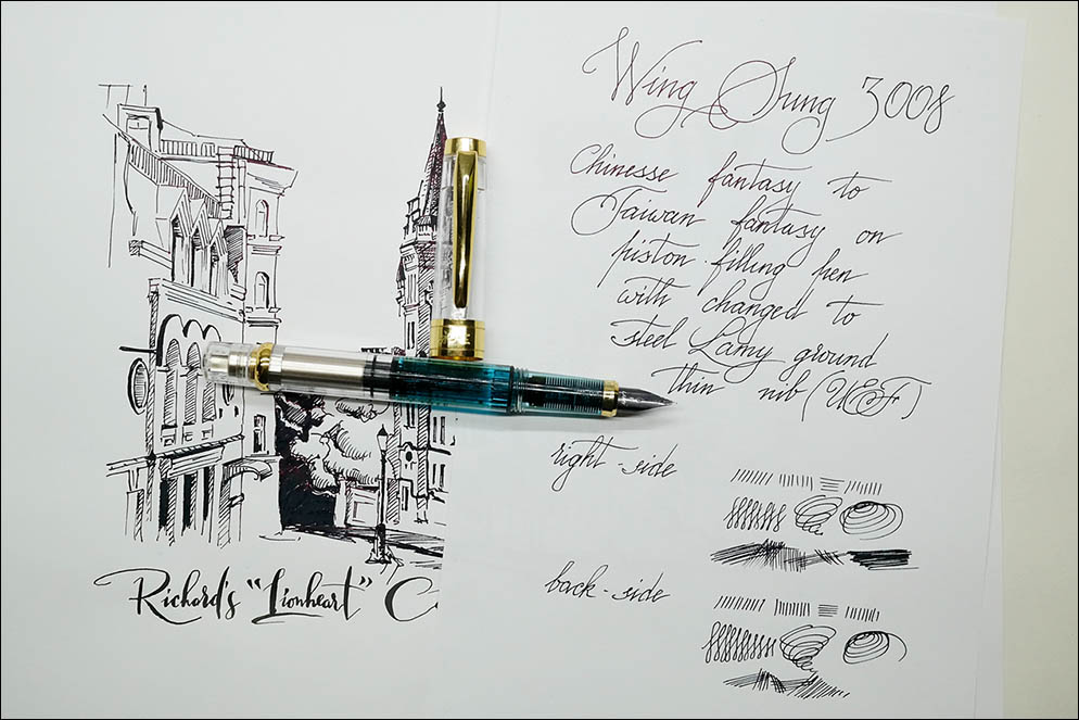 Wing Sung 3008 with Lamy Safari nib. Lenskiy.org