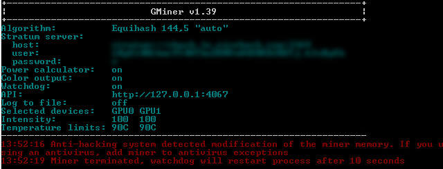 GMiner v1 54 Equihash(BEAM, VDS, BTG, YCASH)/CuckooCycle(AE, SWAP, GRIN)