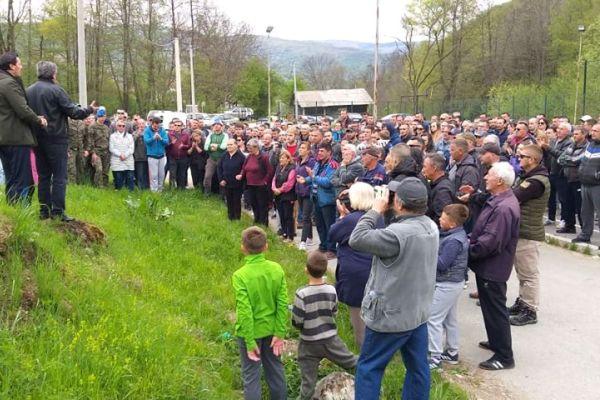 Сербия, Косово, Штрпце, протесты