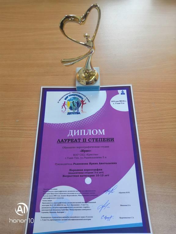 """ОХС """"ИРИС"""" стала лауреатом II степени в Международном хореографическом конкурсе """"Мир танцующего детства"""""""