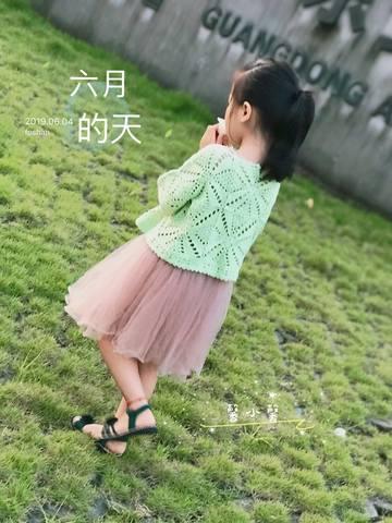 Вязаный крючком пуловер для девочки