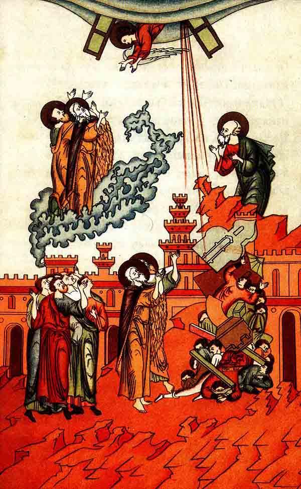 ტაძრის გაზომვა და ორი მოწმის გამოცხადება