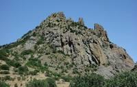 Вершина Карагача со скалами Король, Королева и Трон. Фото Морошкина В.В.