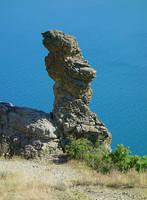 Скала Пряничный Конь на уч-ке Хоба-Тепе Карадага. Фото Морошкина В.В.