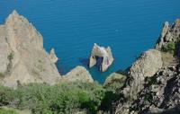 Золотые ворота Карадага, вид с Берегового хр. Фото Морошкина В.В.