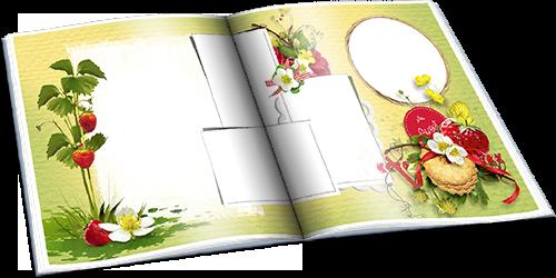 Клубничная полянка - Детский летний фотоальбом