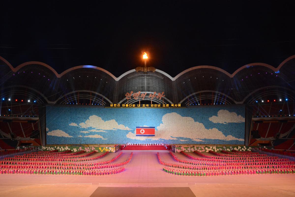 27227559 - Массовые гимнастические выступления В Северной Корее