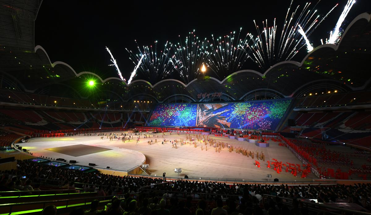 27227561 - Массовые гимнастические выступления В Северной Корее