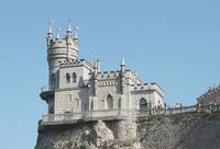 Миниатюрный замок-дворец Ласточкино гнездо на мысе Ай-Тодор. Фото Морошкина В.В.