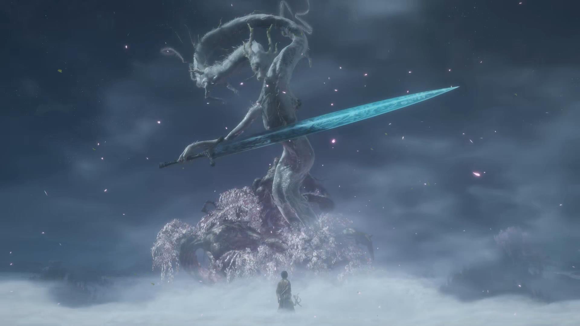 Divine Dragon With Moonlight Greatsword