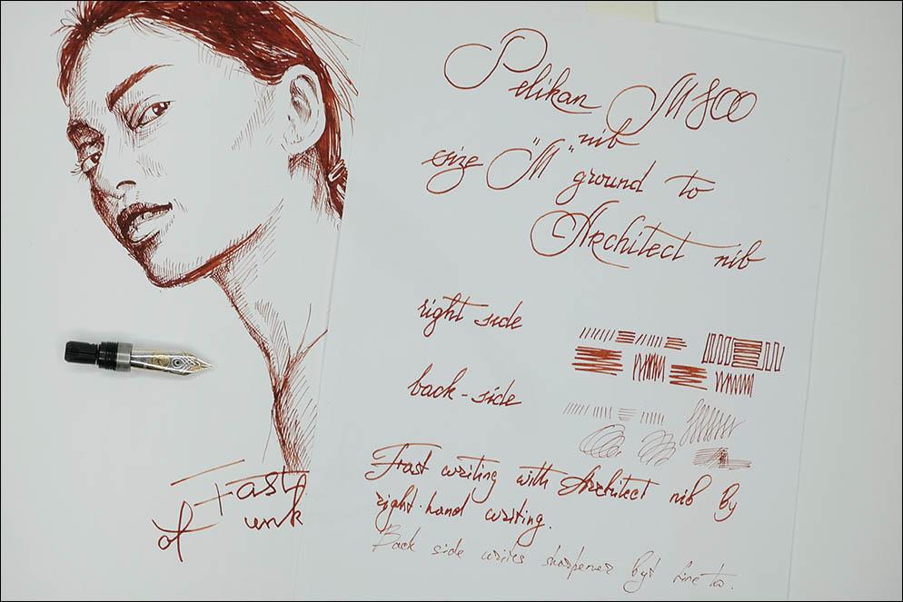 Pelikan 800 Architect Girl Test. Lenskiy.org
