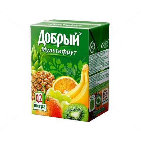 Сок добрый мультифрукт 0.2