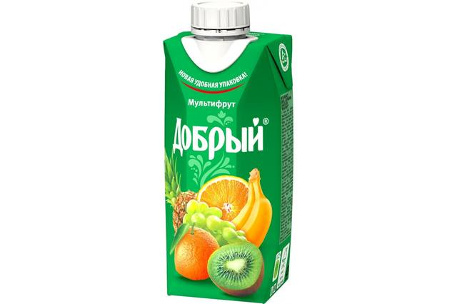 Сок добрый мультифрукт 0.33