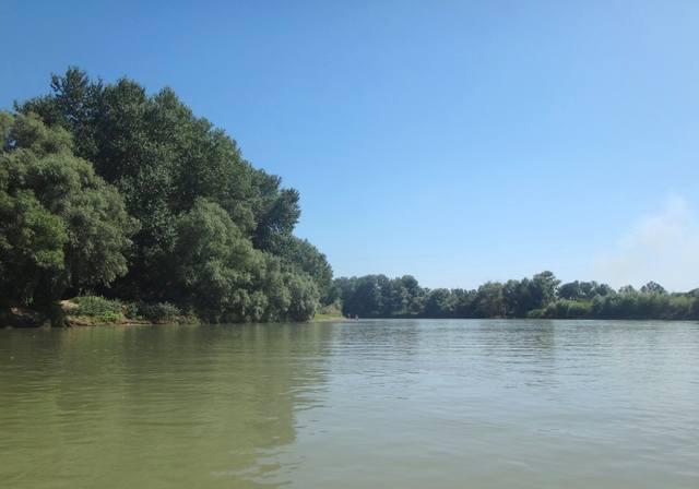 В пути, на реке Кубань