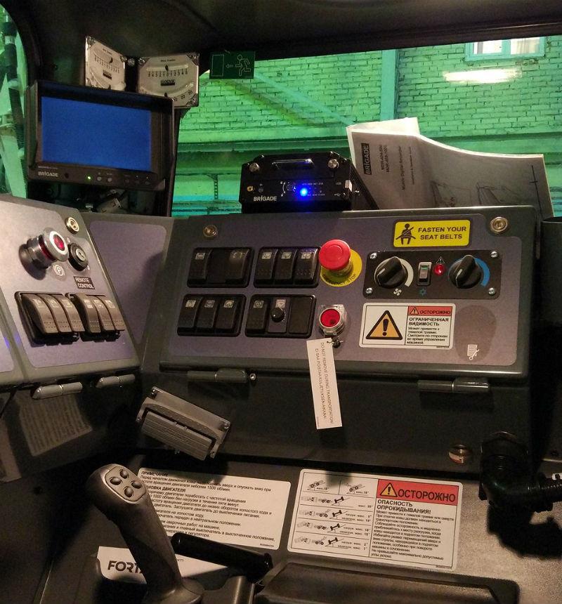 Система видеорегистрации на погрузочно-достатовочной машине (ПДМ) SANDVIK LH-410