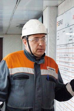 Евгений Двоелучинских,  начальник производства ОФ «Распадская»